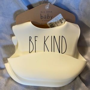"Two Rubber Bibs (Rae Dunn) ""Be Kind""&""Little Love"""